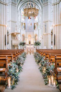 Rustic Church Wedding, Church Wedding Flowers, Church Wedding Ceremony, Chapel Wedding, Dream Wedding, Church Weddings, Indoor Wedding Receptions, Wedding Ceremony Decorations, Church Wedding Decorations Rustic