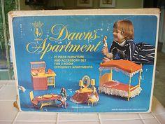 Vintage Topper Dawn's Apartment No. 8704 & Dawn Doll [ Amsco Toys 1971