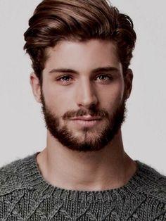 his hair style/color + beard
