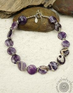 http://earthwhorls.com/collections/june-2016  June is busting out all over at EarthWhorls - check out our new June Collection - featuring this banded amethyst and sterling silver, gemstone jewelry necklace.