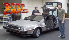 BTTF Car Delorean Hire Delorean Time Machine Hire Sean Bishop and J Ryan The Builders of the Time Machine