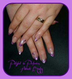 Acrylic Enhancements with Glitter and Crystals x