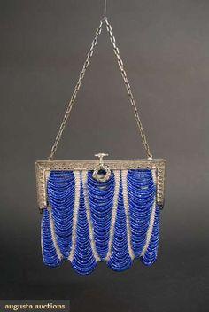 Art Deco beaded handbag, c. 1920. @Deidra Brocké Wallace