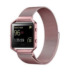 Fitbit Blaze Accessories Band Small, UMTele Milanese Loop Stainless Steel Mesh Bracelet Replacement Band Strap with Unique Magnet Lock for Fitbit Blaze Smart Fitness Watch Rose Gold (5.1''-7.9'')
