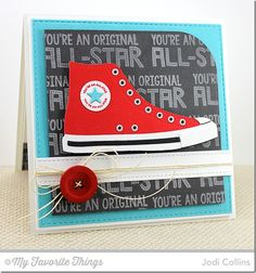 Be Original, All-Star High Top Die-namics, Blueprints 1 Die-namics, Blueprints 3 Die-namics, Blueprints 14 Die-namics - Jodi Collins Homemade Birthday Cards, Birthday Cards For Men, Homemade Cards, Card Factory, Star Cards, Mft Stamps, Marianne Design, Masculine Cards, Funny Cards