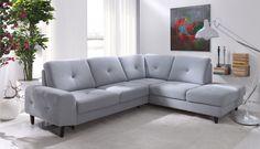 Rozkládací sedací souprava PLAY s úložným prostorem, moderní a pohodlný design. Rozměr 265 x 225 cm, výška 89 cm, hloubka 96 cm, plocha na spaní 120 x 193 cm.
