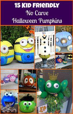 15 Kid Friendly No-Carve Halloween Pumpkins ~ 24 Cottonwood Lane