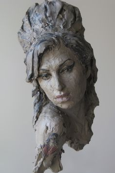 Amy Winehouse by Suzie Zamit Clay.  Technically not ceramic, but what a wonderful piece.