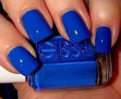 Into dark blue nails lately