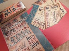 Vintage Circus Wedding Invitation by ShannonFrezzaInvites on Etsy