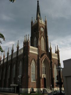 Natchez, Mississippi. Back in my day it was St Mary's Cathedral; Now it's a Basilica! Beautiful!