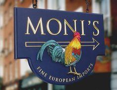 Moni's European Imports Retail Sign   Danthonia Designs