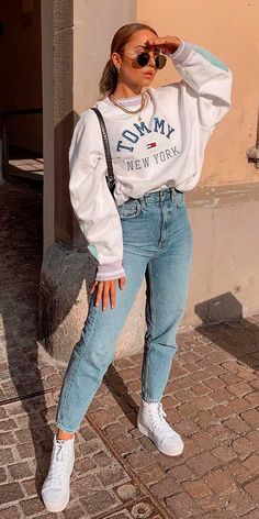 Trendy Fall Outfits, Retro Outfits, Cute Casual Outfits, Boho Outfits, Stylish Outfits, Teen Girl Outfits, Simple Outfits, Casual School Outfits, Sporty Outfits