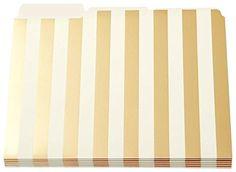 Kate Spade Gold Stripe File Folders pack of 6 kate spade ... https://www.amazon.ca/dp/B00JVFY9ES/ref=cm_sw_r_pi_dp_56TJxbF71C5JP