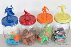 do this with a large jar (or 5 gallon bucket painted?) for army men