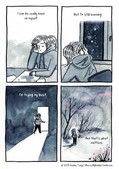 Discovering she's an introvert inspired artist Debbie Tung to start drawing comics about her quiet, sensitive temperament. Introvert Love, Introvert Quotes, Infj, Introvert Problems, Self Love Quotes, Mood Quotes, Wisdom Quotes, Life Quotes, Cute Comics