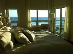 Delightful Heavenly Bed and Heavenly view as well. Heavenly Bed, Siesta Key, Dream Homes, Beds, Condo, Sleep, Windows, Vacation, Furniture