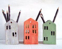 Gift For Teacher-Pen Holder-Pencil Holder-Ceramic by Vsocks