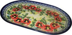 https://homeofpolishpottery.com/collections/large-oval-platter/products/boleslawiec-polish-pottery-unikat-serving-platter-11-long-summer-day