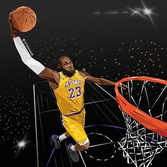 Who is tuning in to watch the King take the court tonight in the Lakers season opener? Basketball Art, Basketball Pictures, Basketball Players, King Lebron James, Lebron James Lakers, Lebron James Wallpapers, Nba Wallpapers, Cleveland Cavs, Kobe Bryant Pictures