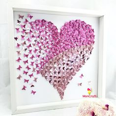 paper butterfly 3d butterfly wall art butterfly heart