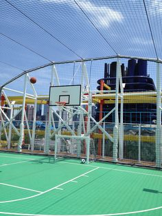 Basketball court about the Norwegian Breakaway.  #magnifiedvacations