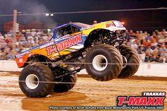 Not an RC Traxxas Tmaxx Monster Truck Wheelies!