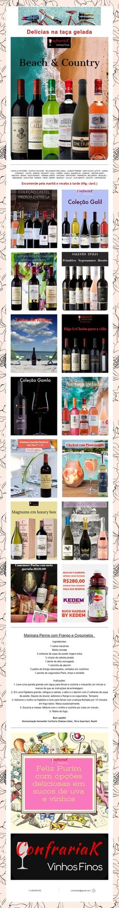 Delícias na taça gelada Ice, Wine Pairings