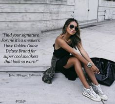 'Find your signature. For me its a sneakers. I love Golden Goose Deluxe Brand for super cool sneakers that look so worn!' Ask fashion bloggers to help style YOUR outfits at new fashion project http://4styler.freeforums.net/thread/133/