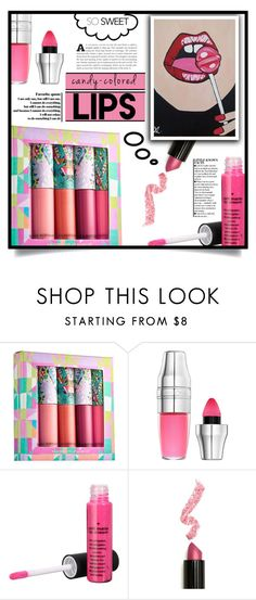 """So Sweet: Candy-Colored Lips"" by dolly-valkyrie ❤ liked on Polyvore featuring beauty, Lancôme, Lime Crime and candylips"