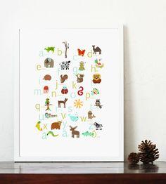 Swedish Alphabet Poster 11x14 Nursery Art, Nursery Wall Art, Kid's Art, Kid's Decor, Gender Neutral Nursery, Nature Themed Art on Etsy, $28.00