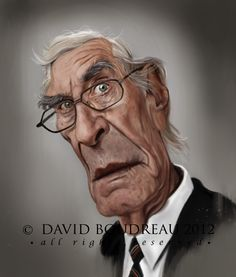 Actor, Martin Landau illustrated by David Bourdeau