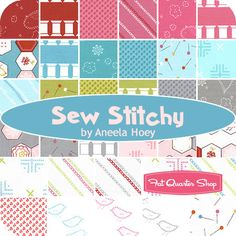 Sew Stitchy Charm Pack Aneela Hoey for Moda Fabrics - Fat Quarter Shop