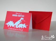 Dinosaur valentine cards for kids