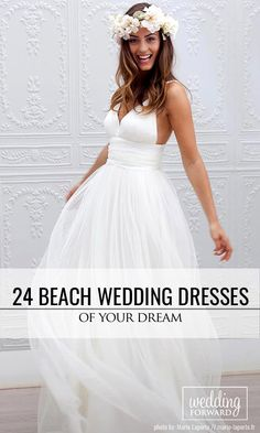 24 Beach Wedding Dresses Of Your Dream ❤ Beach wedding dresses are gorgeous! See more: http://www.weddingforward.com/beach-wedding-dresses/  #wedding #dresses # beach photo:  Marie Laporte http://marie-laporte.fr