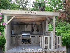 If you are looking for Rustic Outdoor Kitchens, You come to the right place. Here are the Rustic Outdoor Kitchens. This post about Rustic Outdoor Kitchens was post. Backyard Kitchen, Summer Kitchen, Outdoor Kitchen Design, Backyard Bbq, Rustic Outdoor Kitchens, Bbq Kitchen, Outdoor Areas, Outdoor Rooms, Outdoor Living