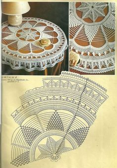 Crochet: round tablecloth: