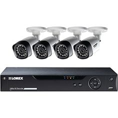Lorex-8-Channel-4-Bullet-Cameras-w-1TB-1080p-HD-HDD-DVR-Security-System