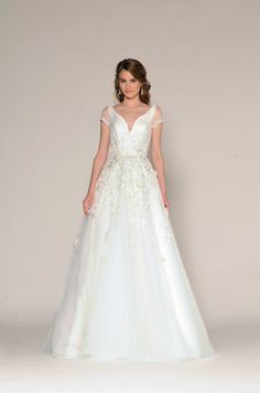Bellethemagazine wedding dresses | Eugenia Couture Fall 2016 Collection | Floor White A-Line V-Neck $$$$ ($3,001-5,000)