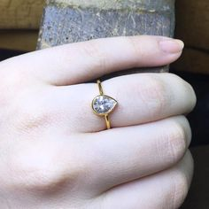 0.75k Diamond Engagement Ring Statement Ring by MintheJewellery