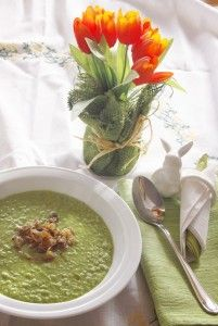 Creamy Pea Soup  This is the simpliest recipe for delicious creamy pea soup: http://mangofique.com/2015/01/creamy-pea-soup/