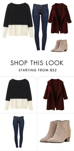 """block sweater"" by tracie-renae on Polyvore featuring Toast, WithChic, Frame Denim and Golden Goose"