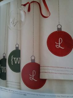 Easy sew Christmas towels as seen in Mark & Graham catalog