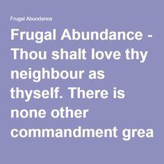 Frugal Abundance - T