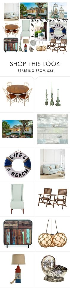 """Beach House"" by pampire ❤ liked on Polyvore featuring interior, interiors, interior design, home, home decor, interior decorating, Wall Pops!, NOVICA, Safavieh and Cyan Design"