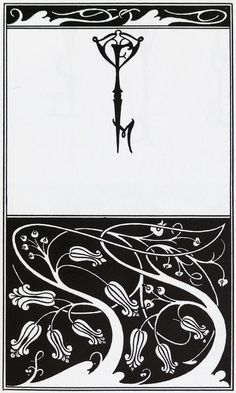 Aubrey Beardsley - Illustration - Art Nouveau - Title page and key monogram of The Mountain Lover Art And Illustration, Illustrations, Gustav Klimt, Nouveau Tattoo, Art Studio Design, Aubrey Beardsley, Art Japonais, Art Drawings For Kids, Heart Art