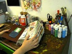 Original pinner sez: My first Junk Journal - YouTube; excellent examples of layering cards