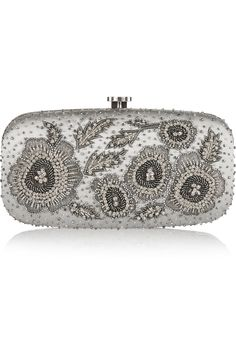 OSCAR DE LA RENTA Goa embellished satin box clutch  $1,490.00 http://www.net-a-porter.com/products/570852