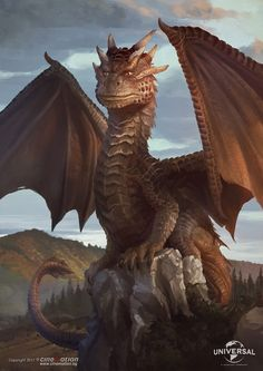 I had the task in Cinemotion to make portraits of some of the elder dragons in Dragonheart as younger ones. Here's Draco from the original first movie and some other dragon fellow captured in their environment. Mythical Creatures Art, Magical Creatures, Fantasy Creatures, Draco, Dragon Heart, Baby Dragon, Dragon Medieval, Mythical Dragons, Dragon Artwork