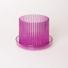 Orchitop M-Set - Design Orchideentopf inkl. Untersetzer für alle Orchideen , Farbe pink